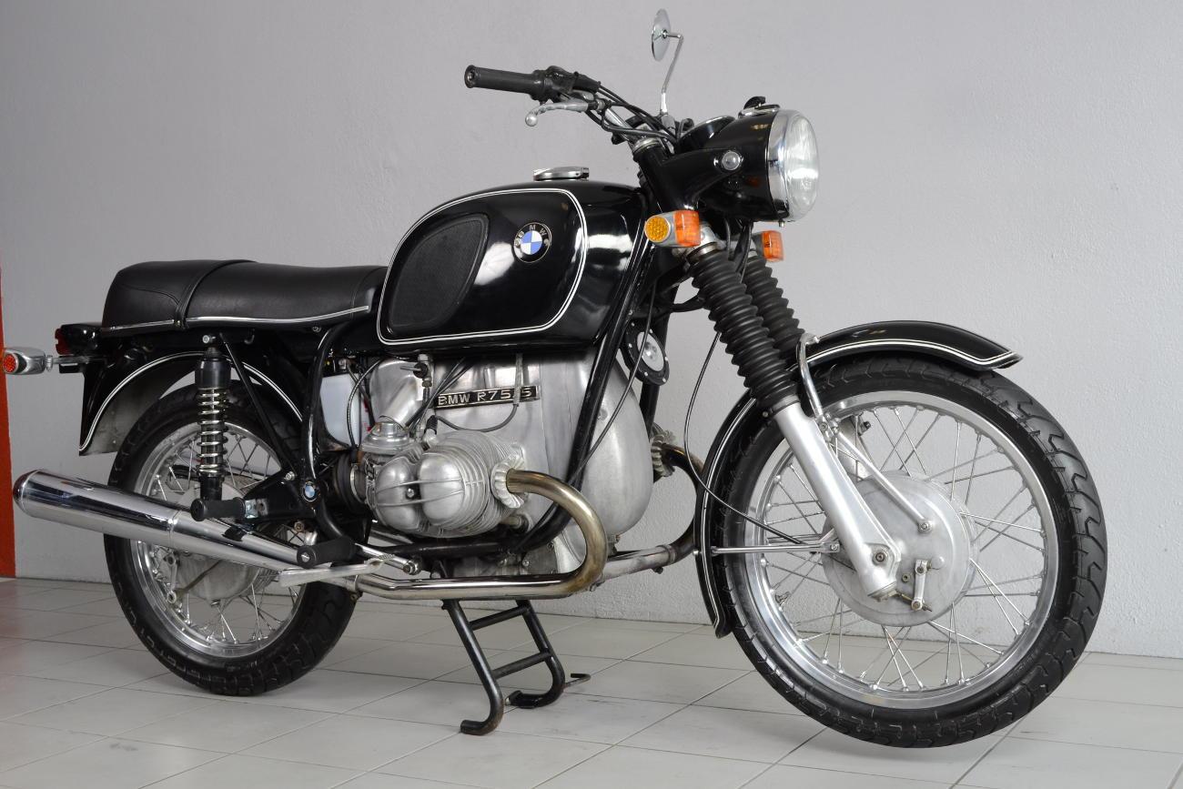 bmw r75 5 de 1970 d 39 occasion motos anciennes de collection allemande motos vendues. Black Bedroom Furniture Sets. Home Design Ideas