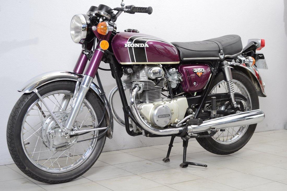 honda cb 350 k4 de 1973 d 39 occasion motos anciennes de collection japonaise motos vendues. Black Bedroom Furniture Sets. Home Design Ideas