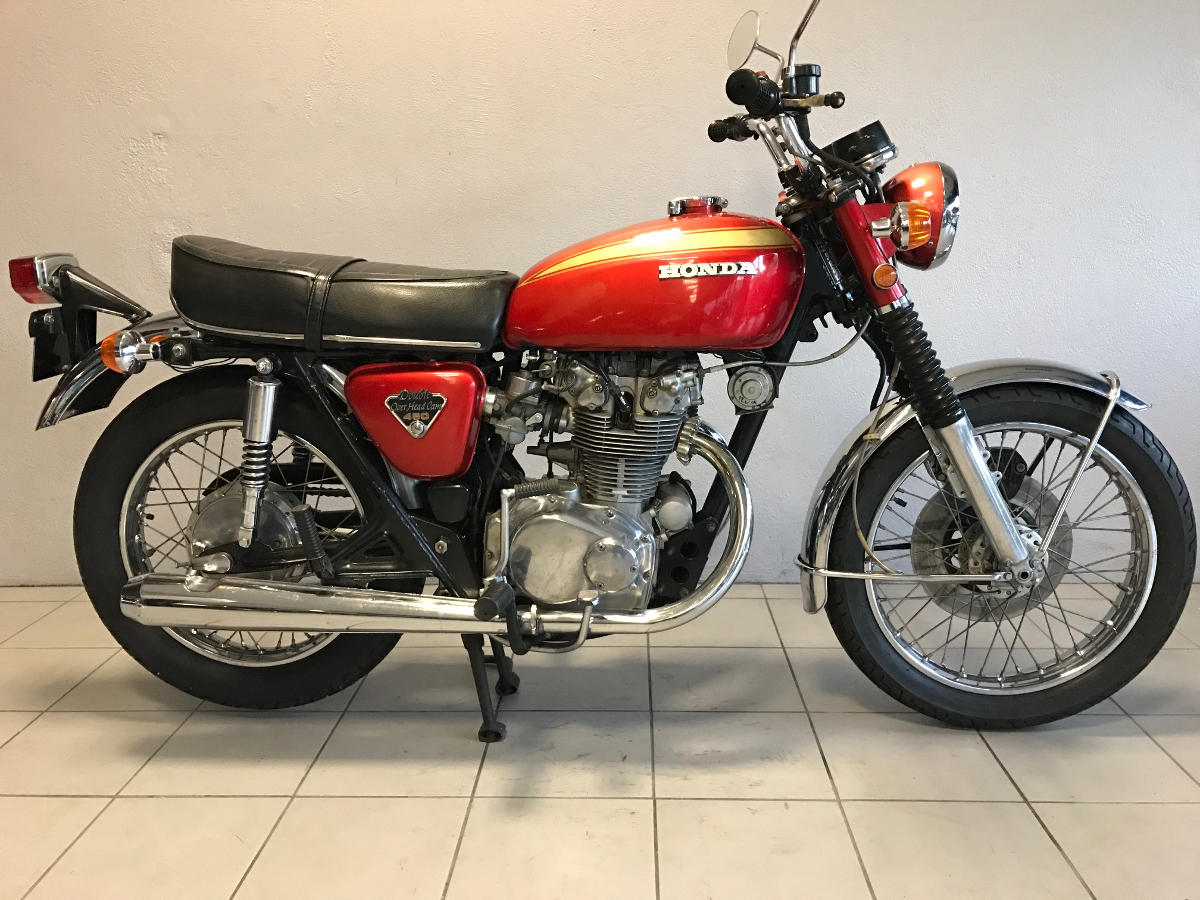honda cb 450 de 1972 d 39 occasion motos anciennes de collection japonaise motos vendues. Black Bedroom Furniture Sets. Home Design Ideas