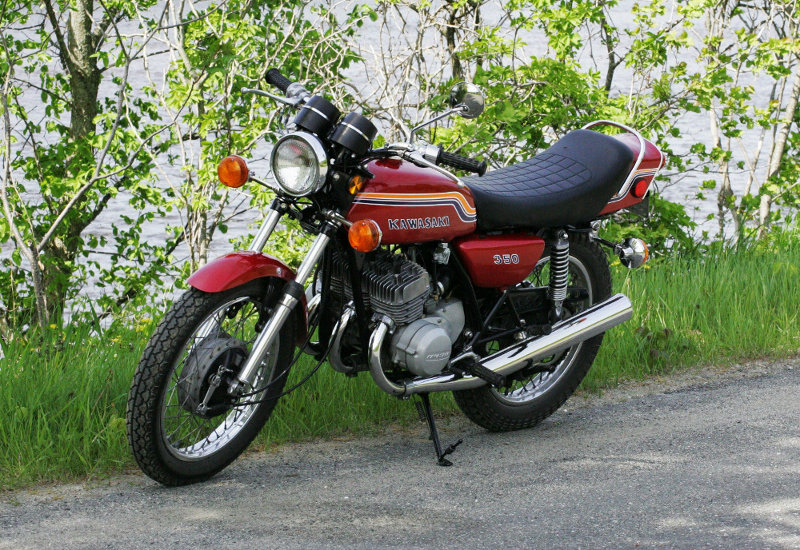 moto kawasaki 350 s2