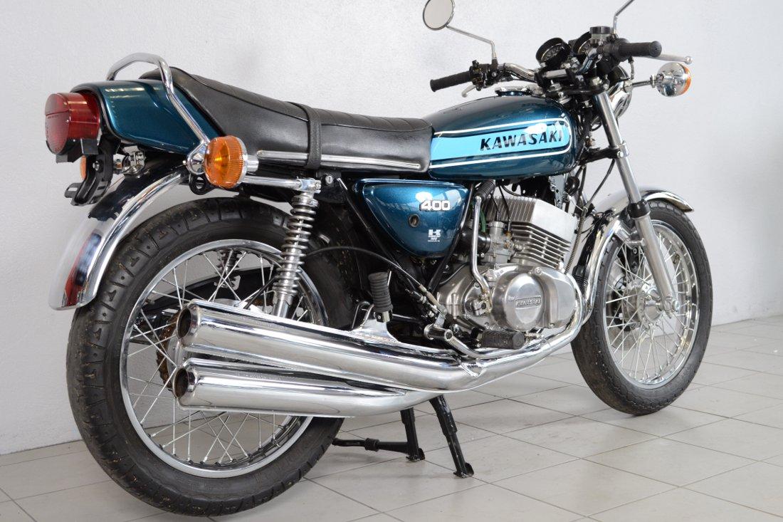 kawasaki 400 kh de 1977 d 39 occasion motos anciennes de collection japonaise motos vendues. Black Bedroom Furniture Sets. Home Design Ideas