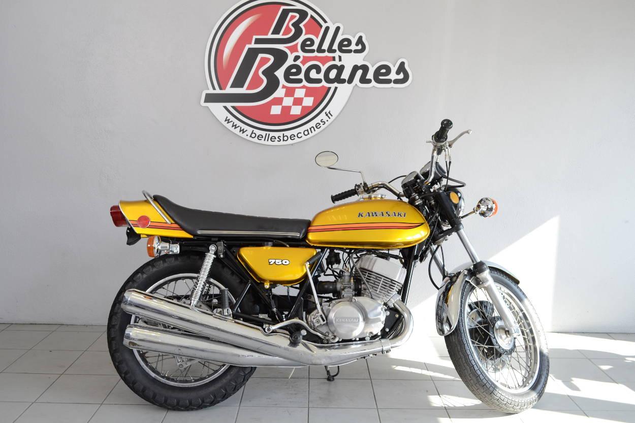 kawasaki 750 h2 a de 1972 d 39 occasion motos anciennes de collection japonaise motos vendues. Black Bedroom Furniture Sets. Home Design Ideas
