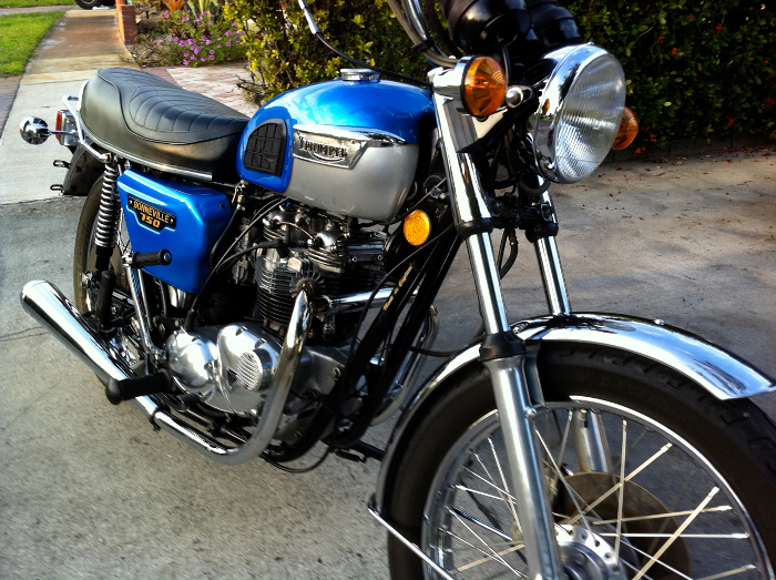 triumph t140 bonneville t140 1979 de 1979 d 39 occasion motos anciennes de collection anglaise. Black Bedroom Furniture Sets. Home Design Ideas